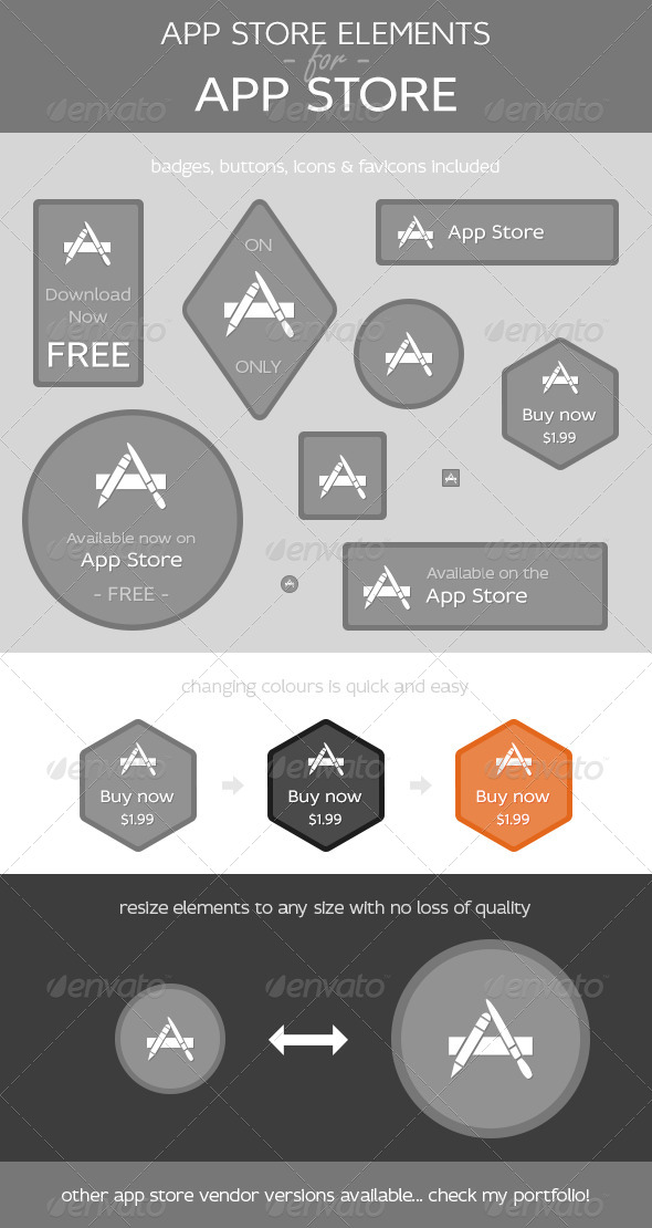GraphicRiver App Store Elements for App Store 4836382