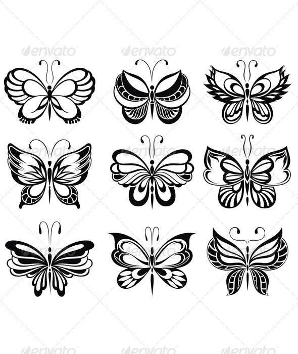 GraphicRiver Butterflies Tattoo 4836399