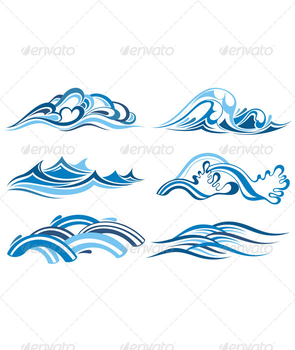 GraphicRiver Blue Water Waves 4836546