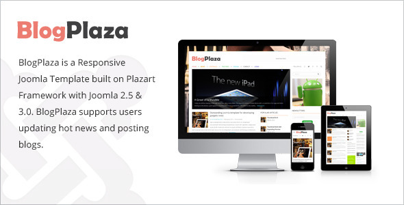 BlogPlaza - Responsive Joomla Template - Blog / Magazine Joomla