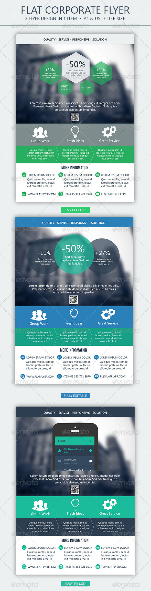 GraphicRiver Flat Corporate Flyer 4837084