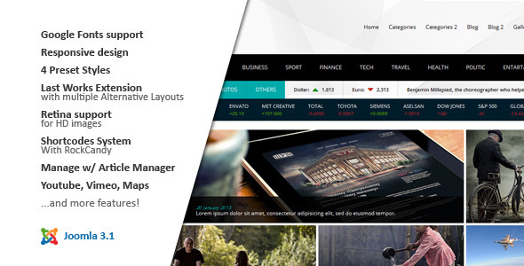 ThemeForest NEWS24 4 in 1 News Magazine Joomla Template 4837092