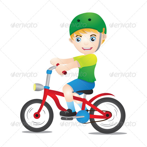 GraphicRiver Bicycle Boys Using Helmet 4837095
