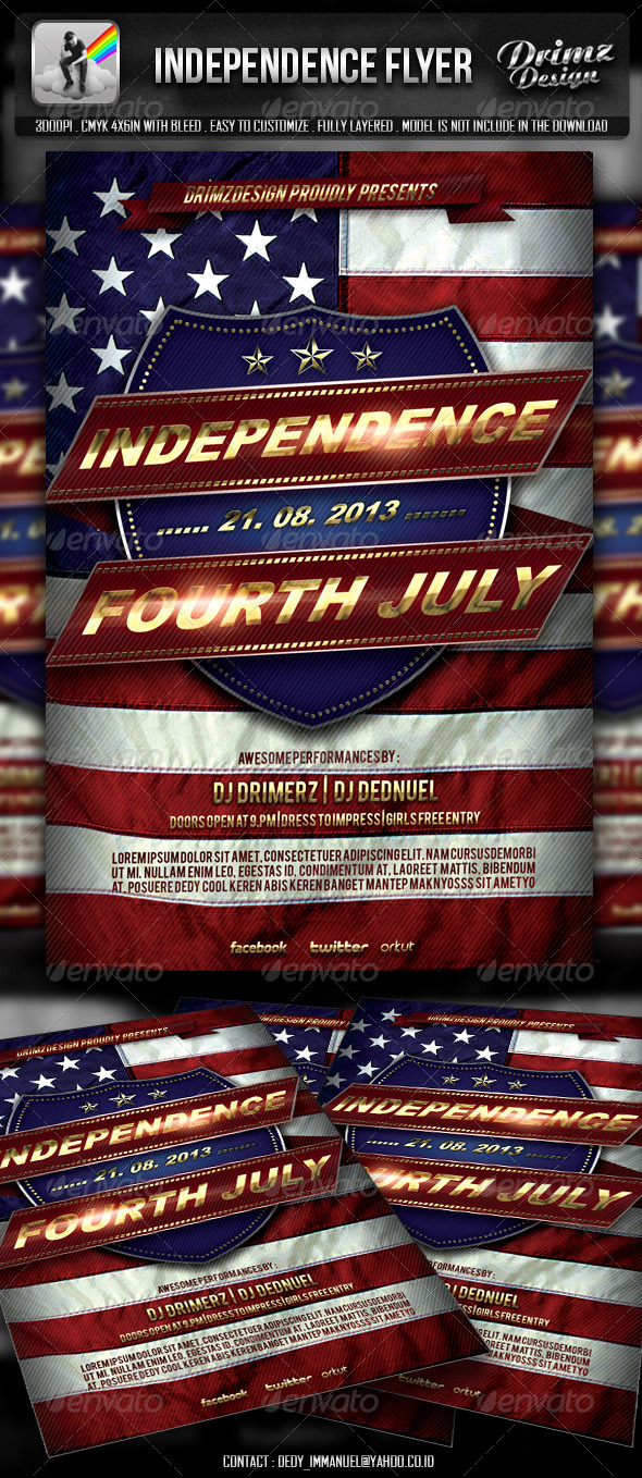 GraphicRiver Independence Flyer 4837124