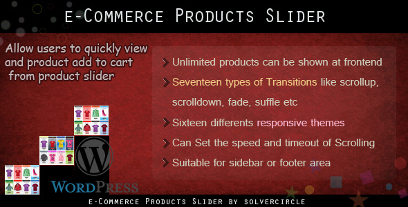 WP E-commerce Products Slider