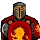 Crusader Knight on Shield Mascot  - GraphicRiver Item for Sale