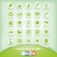 Ecology Icons set. Green Environment Symbols. - GraphicRiver Item for Sale