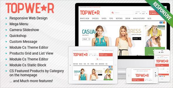 ThemeForest Responsive OpenCart Theme BossThemes TopWear 4837263