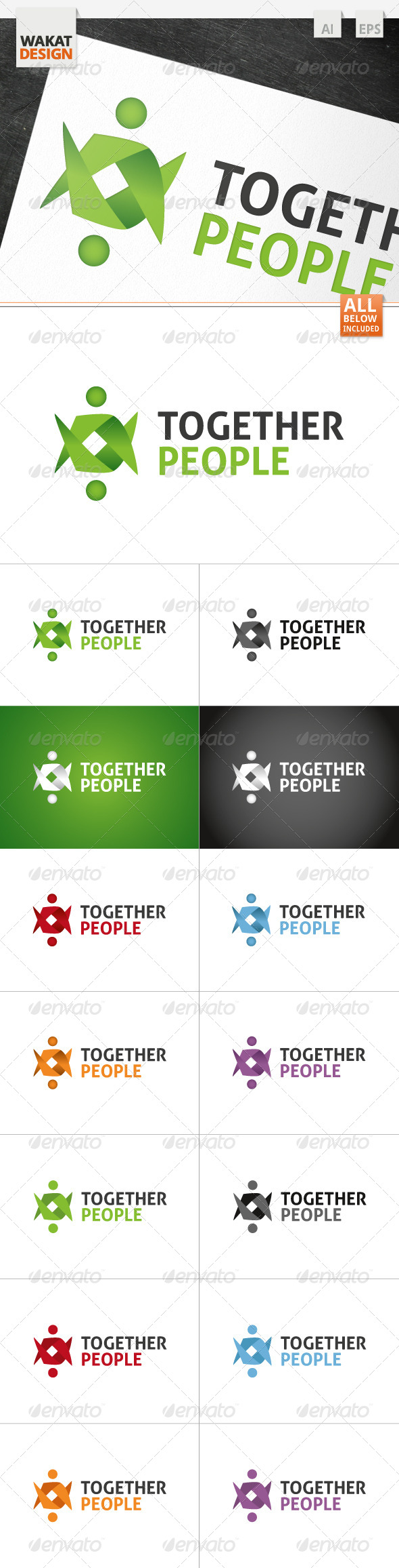GraphicRiver Together People Logo 4122299