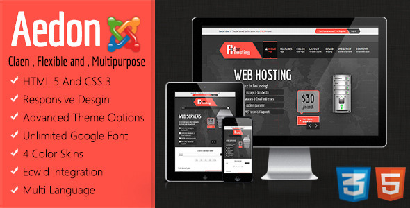 ThemeForest Aedon Responsive Multipurpose Joomla Template 4833799