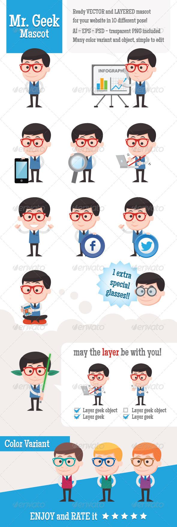 GraphicRiver Mr Geek Mascot 4822964