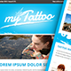 Tattoo Email Template - GraphicRiver Item for Sale