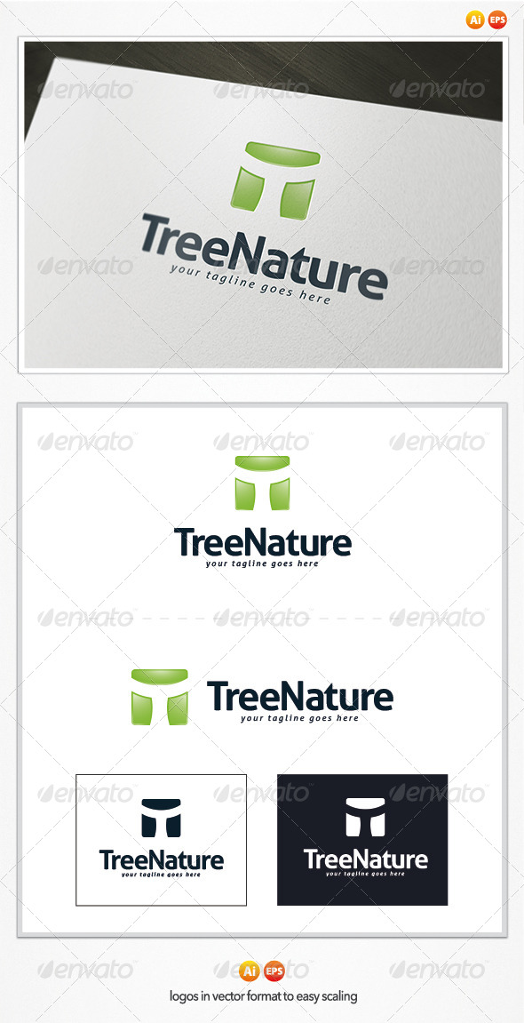 GraphicRiver Tree Nature Logo 4837347