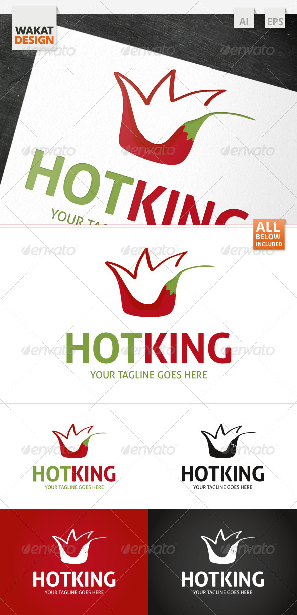 GraphicRiver Hot King Logo 4122172