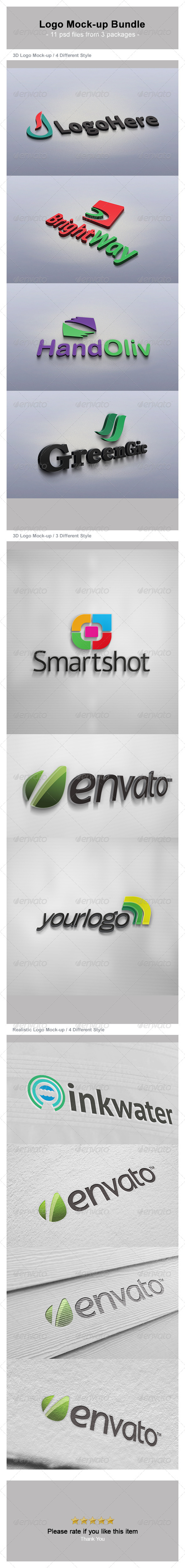 GraphicRiver Logo Mock-up Bundle 4837408