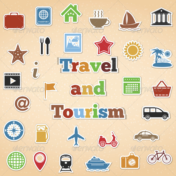 GraphicRiver Travel and Tourism Icons 4837479