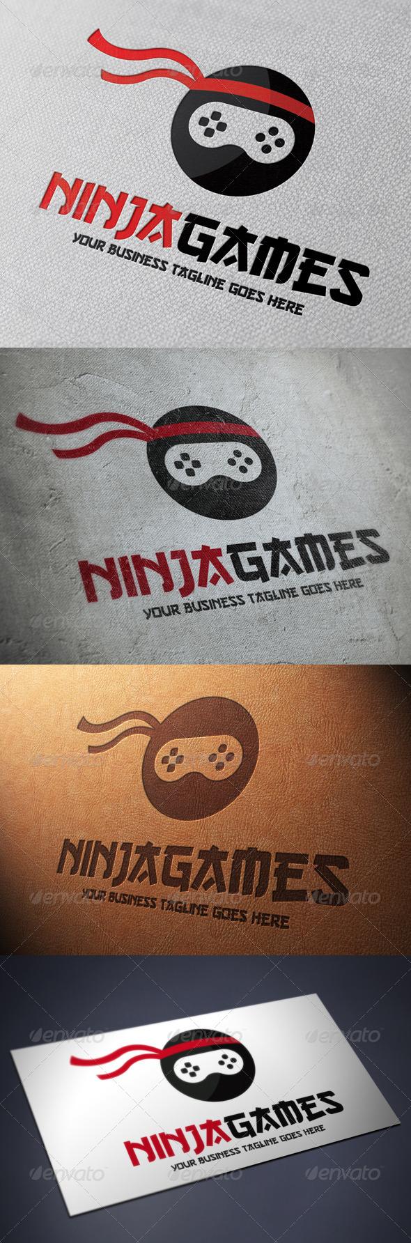 GraphicRiver Ninja Game Logo Template 4837577