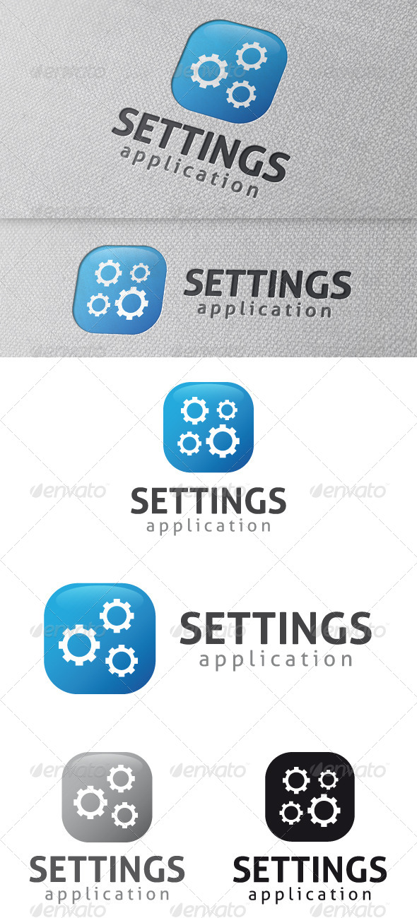 GraphicRiver Settings App Logo Template 4837607