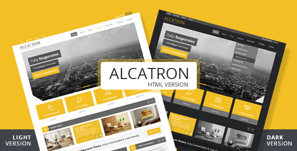 Alcatron - A multipurpose responsive template - Corporate Site Templates