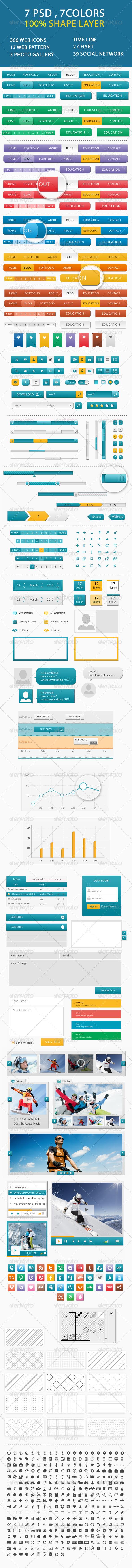 GraphicRiver Web Element Creative UI 4817875