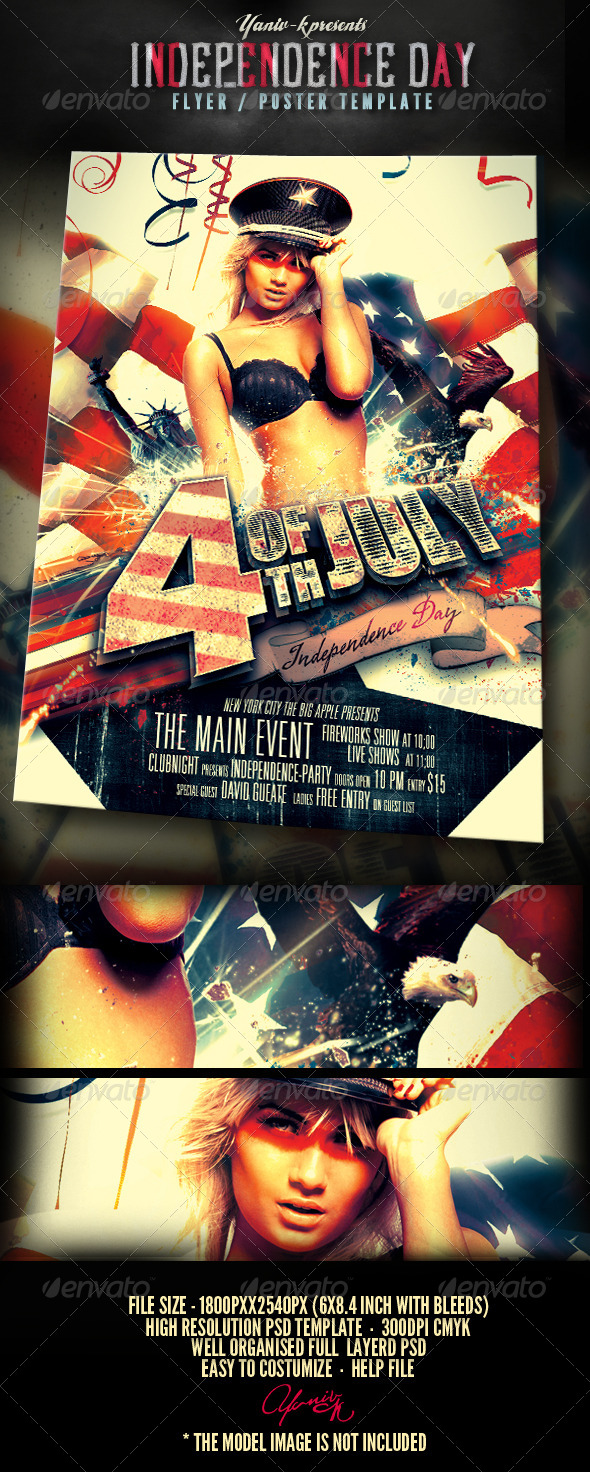 GraphicRiver 4th Of July Flyer Template 4778357