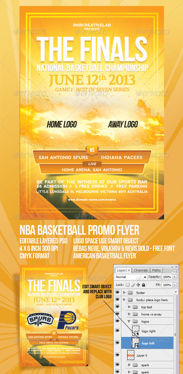 GraphicRiver The Finals Basketball Promo Flyer 4769381