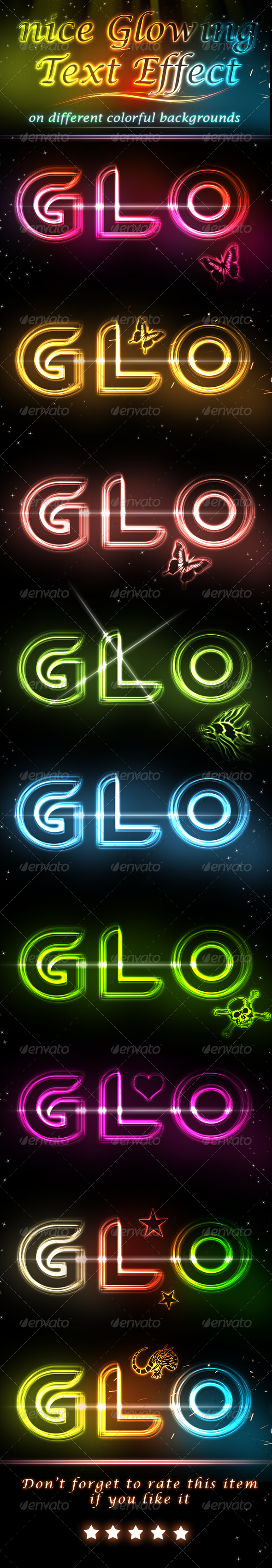 GraphicRiver Glowing Light Text Effect V.2 4804515