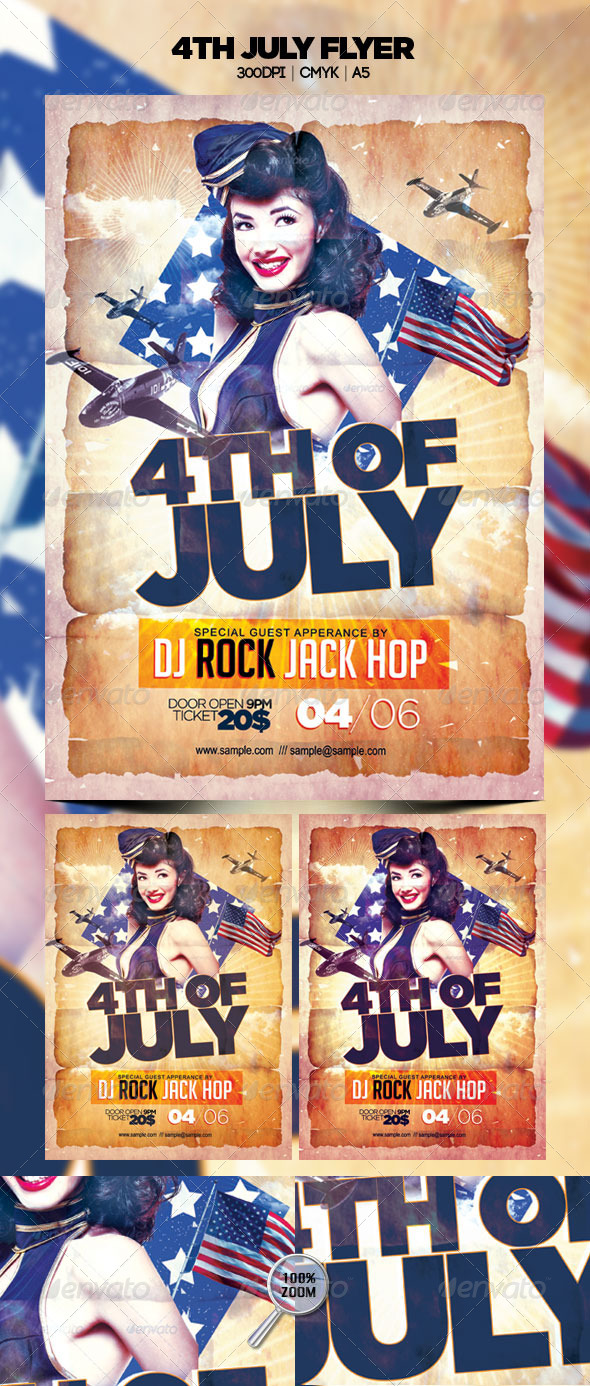 GraphicRiver 4th July Flyer 4838455