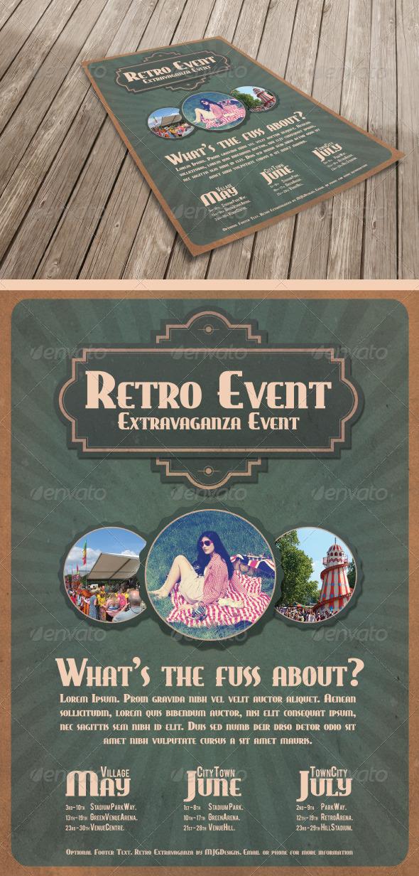 GraphicRiver Retro Event Poster 4838463