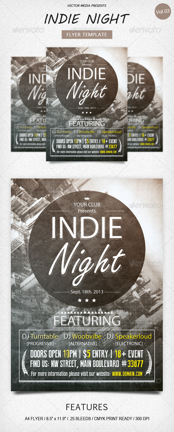 Indie Night Flyer [Vol.3]