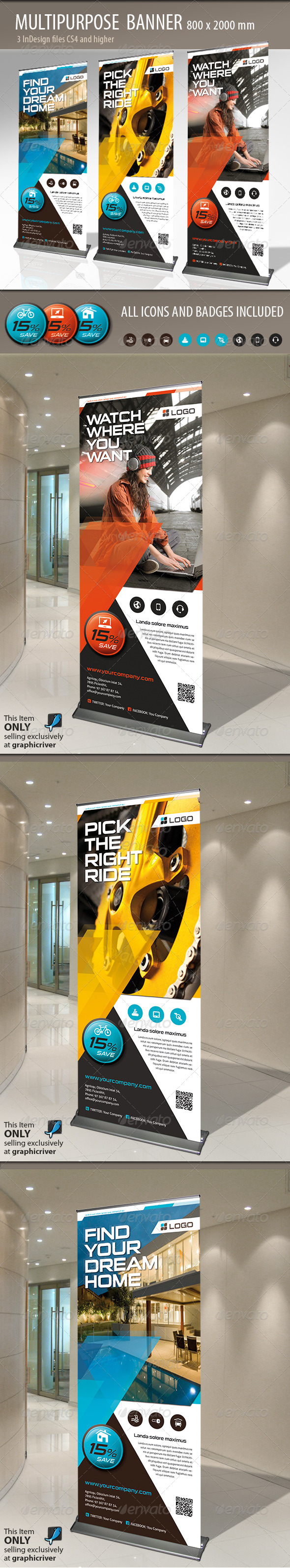 GraphicRiver Multipurpose Banner or Rollup 4839298