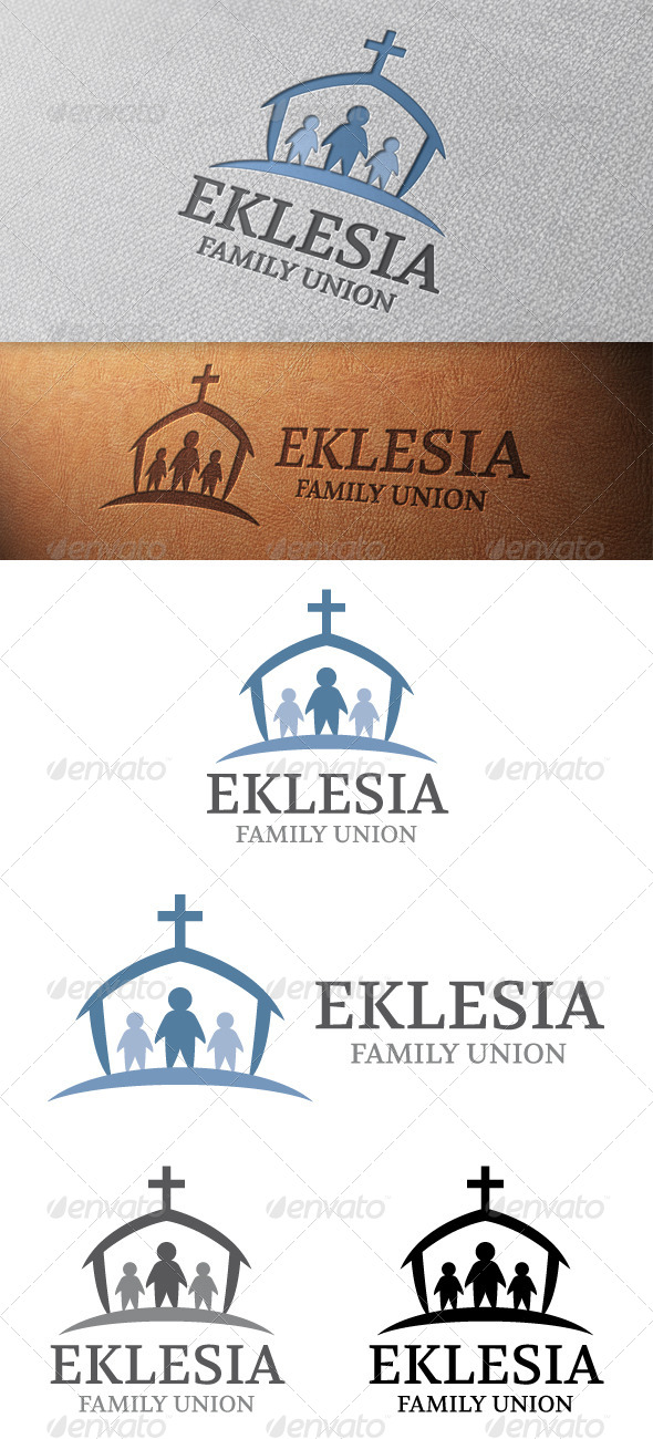 GraphicRiver Family Church Logo Template 4839321