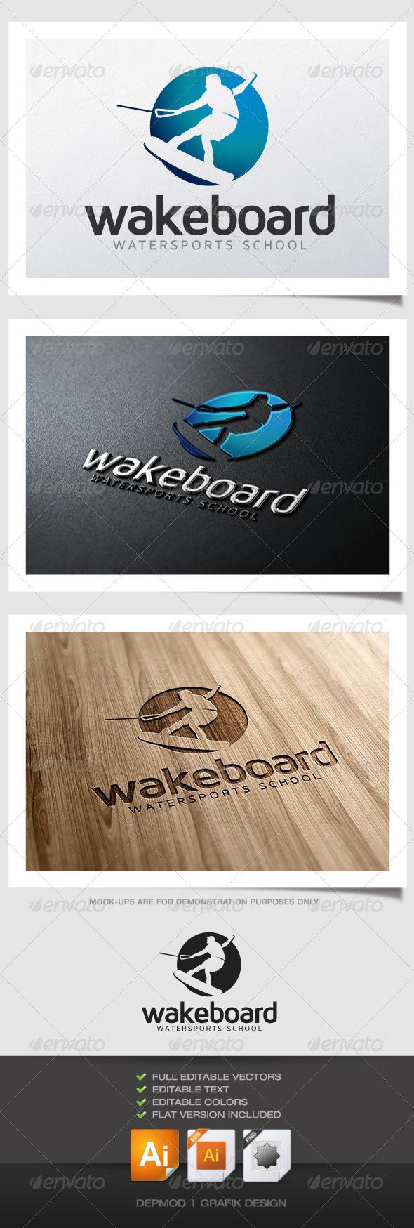 GraphicRiver Wakeboard Logo 4839451