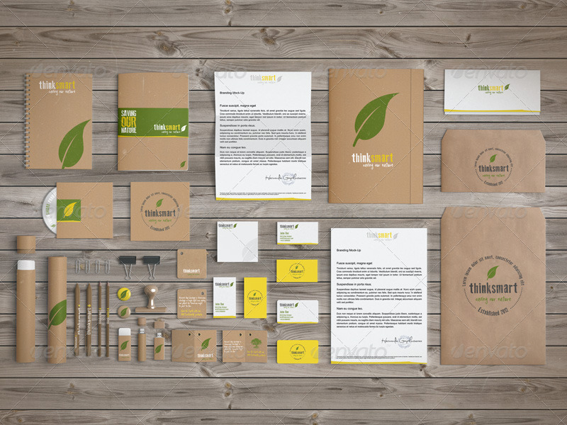 Branding / Identity Mock-Up – Recycled Version