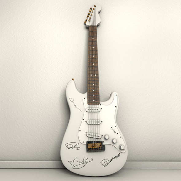 3DOcean Autographed Electric Guitar 4840077