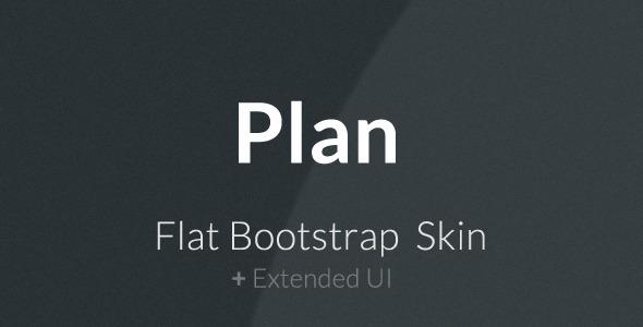 CodeCanyon Plan Flat Bootstrap Skin 4840101