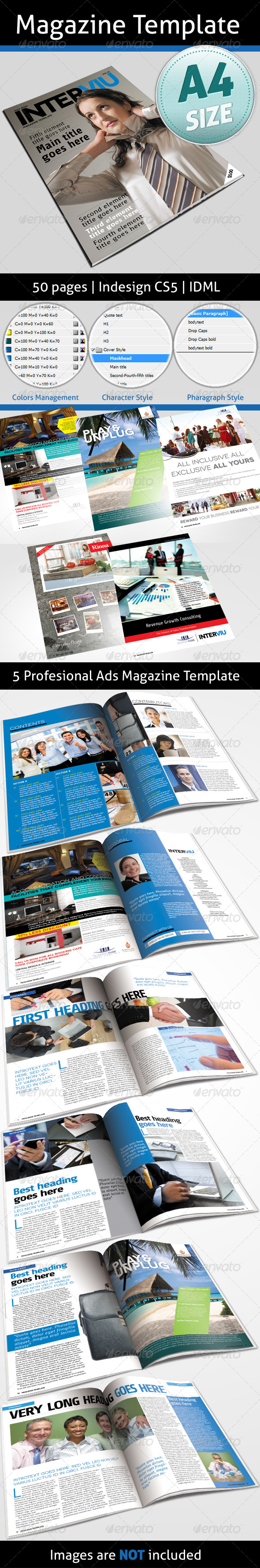 GraphicRiver Magazine Template 50 pages 4840360