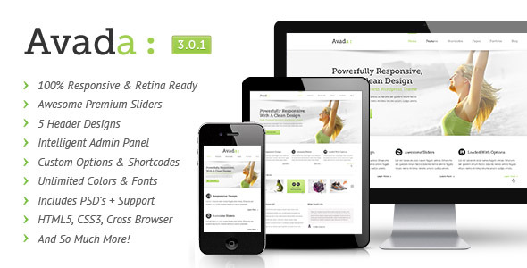 Avada Responsive Multi-Purpose Theme for Wordpress