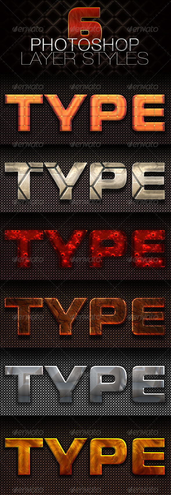 GraphicRiver 6 Photoshop Layer Styles 4842320