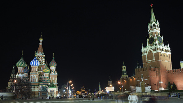 Kremlin And Basil s Cathedral In Red Square Moscow