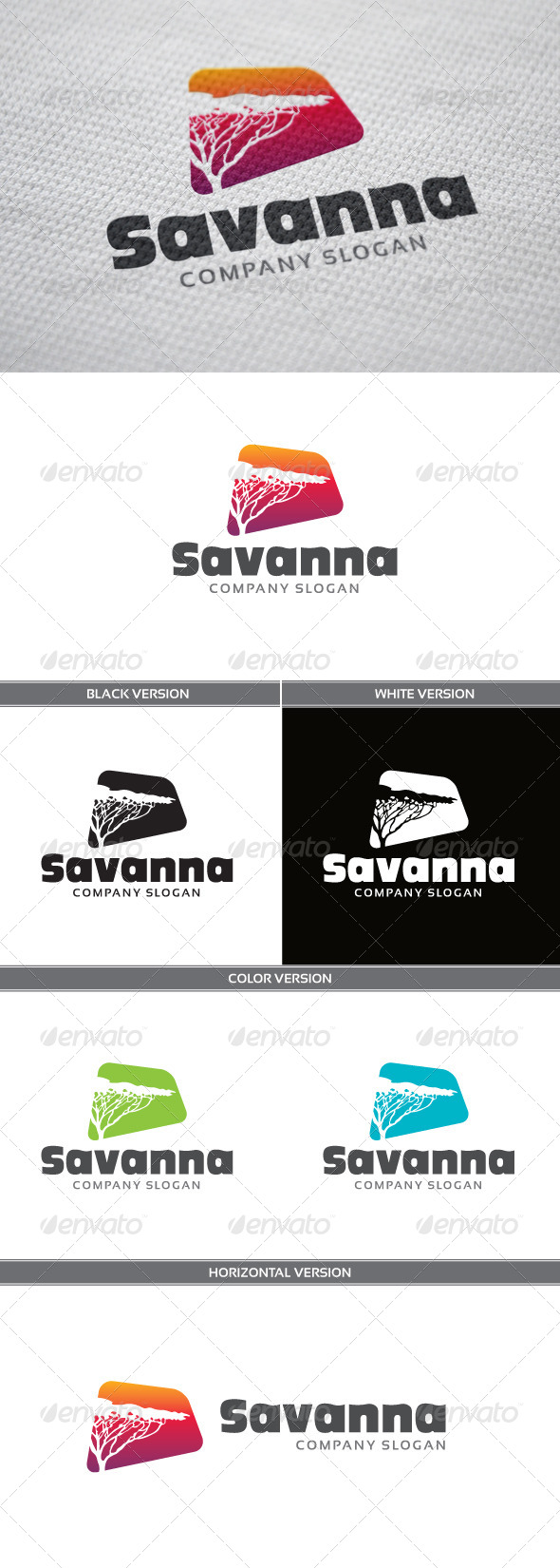 GraphicRiver Savanna Logo 4809321