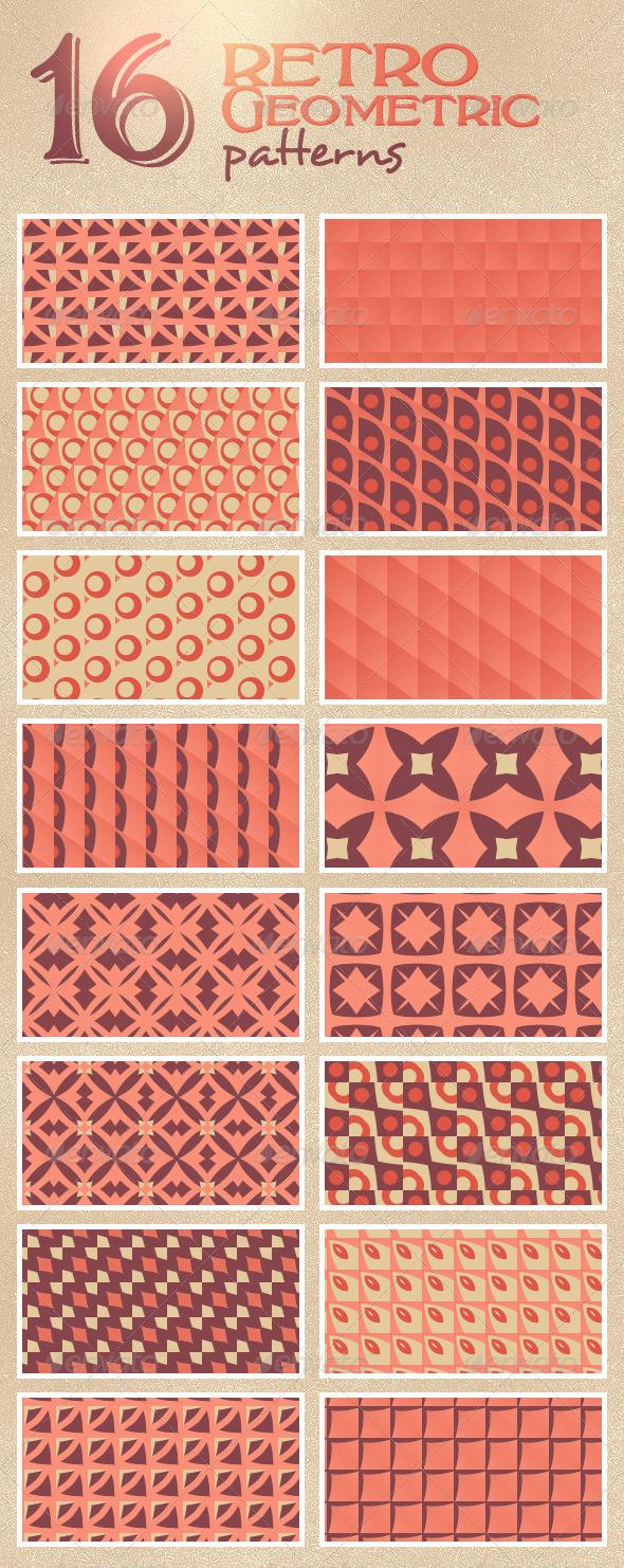 GraphicRiver 16 Retro Geometric Patterns 4817854