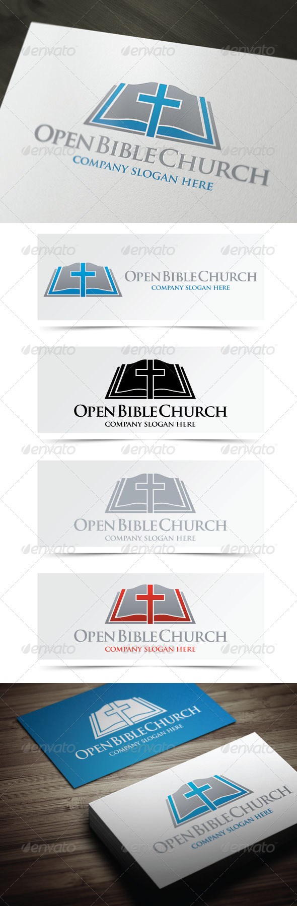 GraphicRiver Open Bible Church 4843641