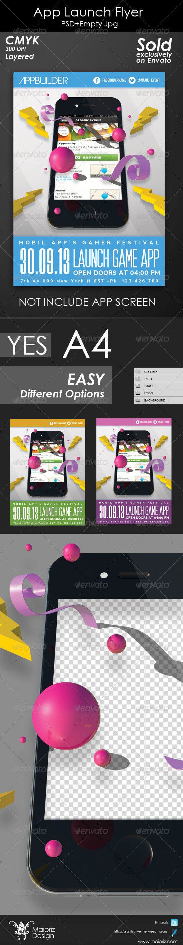 GraphicRiver App Launch Flyer 4782473
