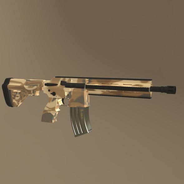 3DOcean HK-416 Weapon Model 4834768