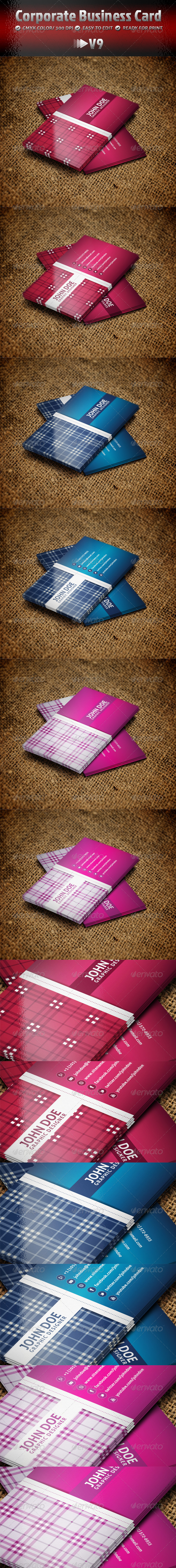 Corporate Business Card V9 - Business Cards Print Templates