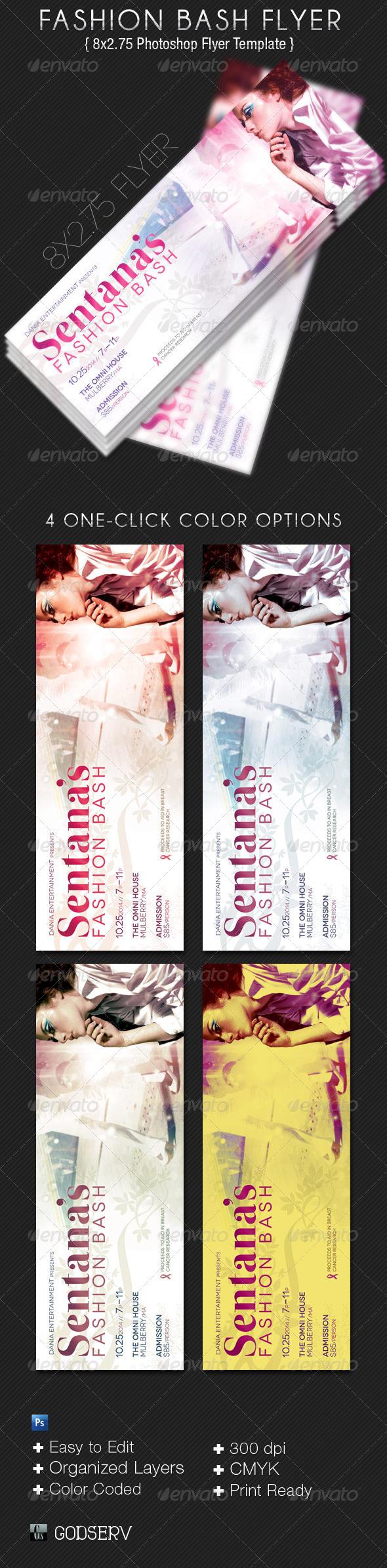 GraphicRiver Fashion Bash Flyer Template 4844753