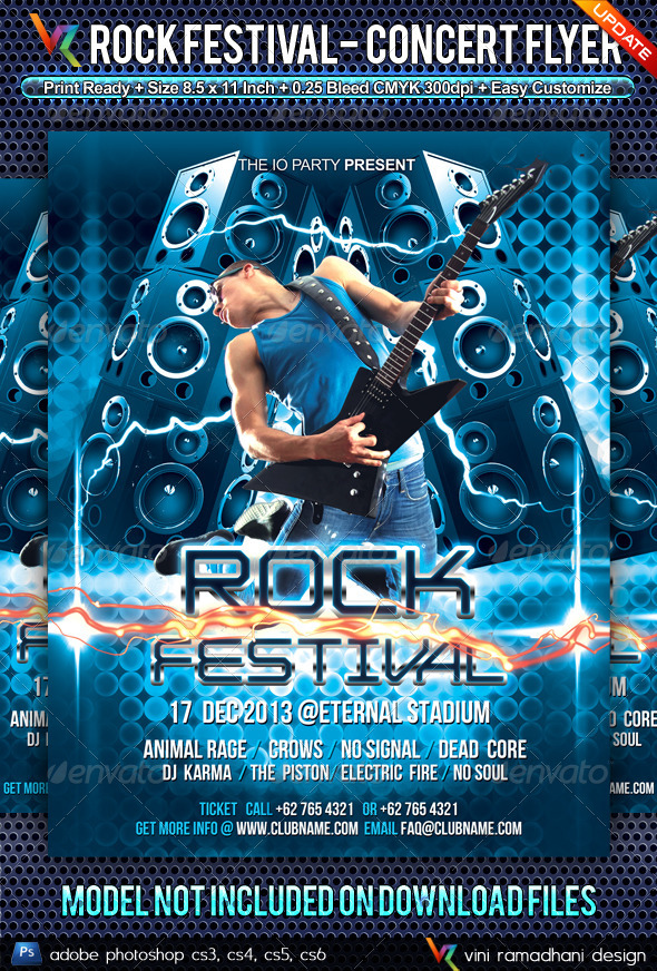 GraphicRiver Rock Music Festival Flyer 4844804
