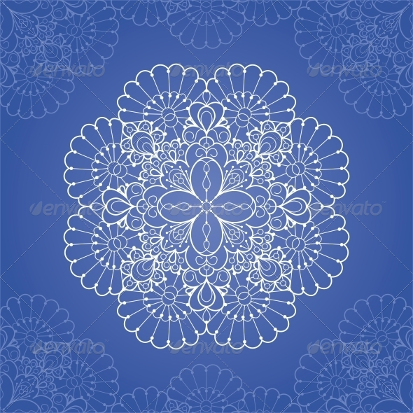 GraphicRiver Ornamental Round Lace Pattern 4844929