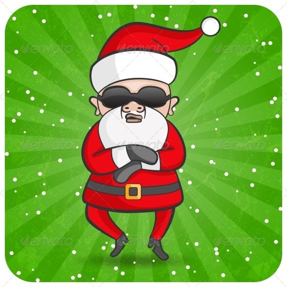 GraphicRiver Dancing Santa 4845495